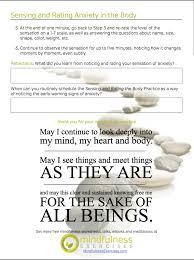 mindfulness worksheets sample mindfulness exercises