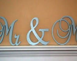 Monogram Letters Home Decor You U0026 Me Custom Painted Wooden Wedding Letters Home Decor