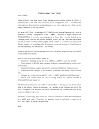 project analyst cover letter samples and templates