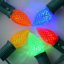 replacement multi color rgb 3 led c7 faceted light bulbs