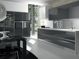 cuisine gris laqué cuisines cuisine grise laquee moderne cuisine grise de design