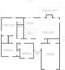 ranch style floor plans weatherby ranch style home plan 055d 0564 house plans and more