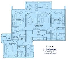 resort floor plan three bedroom condo floor plan of our vacation rentals long beach