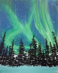 paint nite yukon night paint nite pinterest paintings