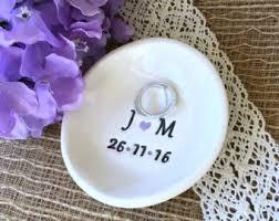 art glass dish ring holder images Wedding ring holder etsy jpg