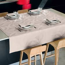 Coffee Table Cloth by Coated Tablecloth Ellipse Sea Salt 100 Cotton Tablecloth