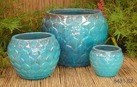 glazed ceramic pots artichoke planter tt pottery