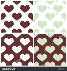 seamless vector pastel hearts tile background stock vector