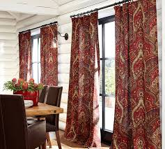 Cotton Curtains And Drapes Mira Paisley Linen Cotton Drape Pottery Barn
