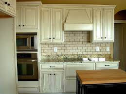 Painted And Glazed Kitchen Cabinets by Subway Tile Backsplash Luxe Homes And Design White Glazed
