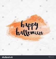 brush lettering happy halloween calligraphy script stock vector