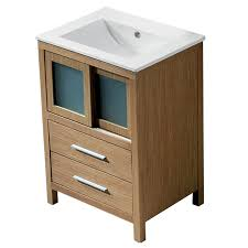 shop vigo white oak integrated single sink bathroom vanity with