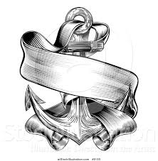 engraved ribbon vector illustration of a black and white retro woodcut or engraved