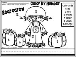 free fall scarecrow color number november