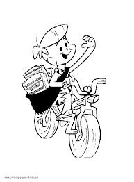 flintstones color coloring pages kids cartoon