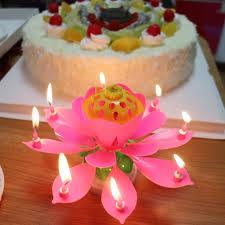 birthday candle flower home decor lotus flower birthday candle musical happy birthday