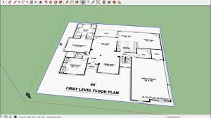sketchup for floor plans sketchup house 01 import floor plan