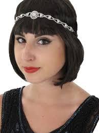 flapper headband rhinestone stretch flapper headband hair accessory blue velvet