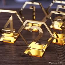 acrylic table numbers wedding 2018 black mirror gold silver acrylic table number wedding party