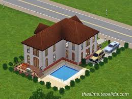 L Shaped Floor Plans by L Shaped House The Sims Fan Page