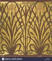 iris wallpaper by walter crane great britain late 19th century