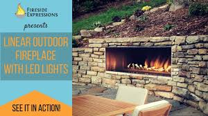 carol rose outdoor linear fireplace with led lights youtube