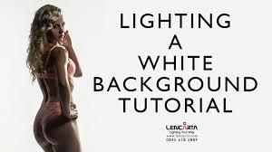 white photo backdrop how to light a white background tutorial lencarta