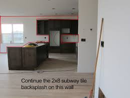 how to do backsplash tile in kitchen subway tile floor to ceiling in kitchen area what do you think