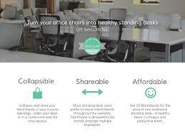 Turn Desk Into Standing Desk by Storkstand Standing Desks Company Discount Program