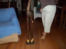 Giraffe Floor L 48 Handcrafted Craved Wood Giraffe Floor Figurine W Base 7 5