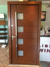 Wood Exterior Doors For Sale Modern Meranti Wood Exterior Doors In Stock Sale Size W 42