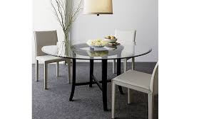 Halo Ebony Round Dining Table With  Glass Top Crate And Barrel - Glass for kitchen table