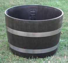 Half Barrel Planter by Whiskey And Wine Barrel Halves