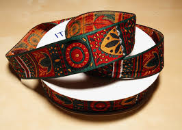 aztec ribbon 30 yards of tribal american aztec jacquard ribbon trim