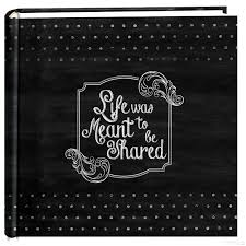 pioneer 200 pocket fabric frame cover photo album chalkboard print was meant to be shared 2 up photo album by