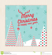 a christmas card template with a green christmas tree stock