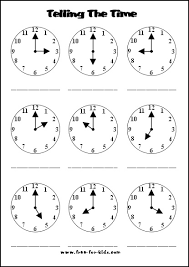how to teach a child to tell time worksheets worksheets