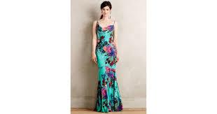 nicole miller botanical gardens gown lyst