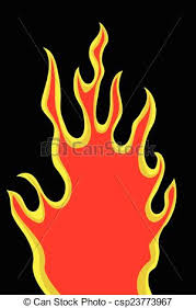 clip art vector of hand draw sketch of fire at black csp23773967