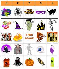 printable halloween bingo cards pictures numbers