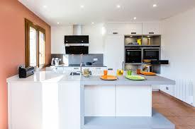 ilot cuisine blanc cuisine leicht avec îlot