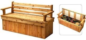 cedar storage bench see the small garden storage bench cedar creek