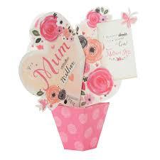 hallmark mother u0027s day card for mum u0027pop up bouquet u0027 medium