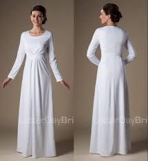 brautkleid gã nstig 2015 simple white muslim lange modest tempel brautkleider mit