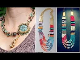 coloured crystal necklace images Latest trend various shapes and colors crystal beads jewellery jpg
