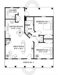 cottage style house plan 2 beds 1 baths 800 sq ft plan 21 169