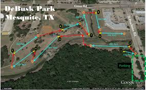 Mesquite Tx Map Debusk Park In Mesquite Tx Disc Golf Course Review
