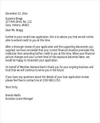 loan rejection letter templates 7 free word pdf format