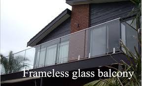 balkon glasscheiben rahmenlose glas balkon designs outdoor handlauf glasgeländer