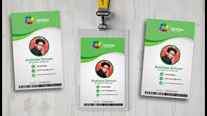 id card design in photo shop i photoshop tutorials youtube